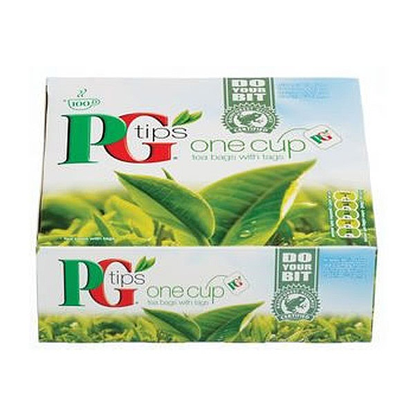 PG Tips tagged tea bags (100)