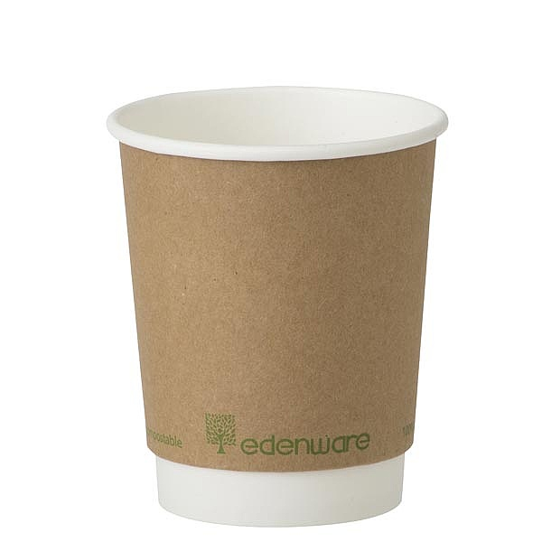 Double Wall Compostable Cups 8oz - 12oz
