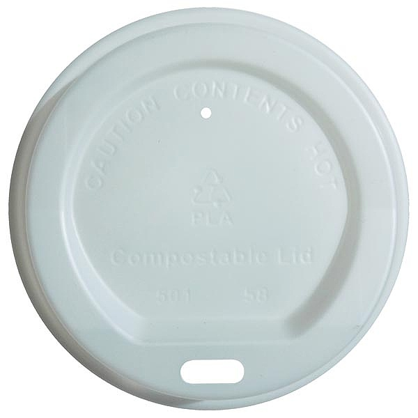 Compostable Sip Through lids 8oz - 12oz