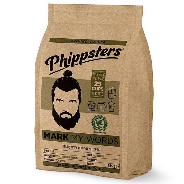 Phippsters Mark My Words Ground Coffee
